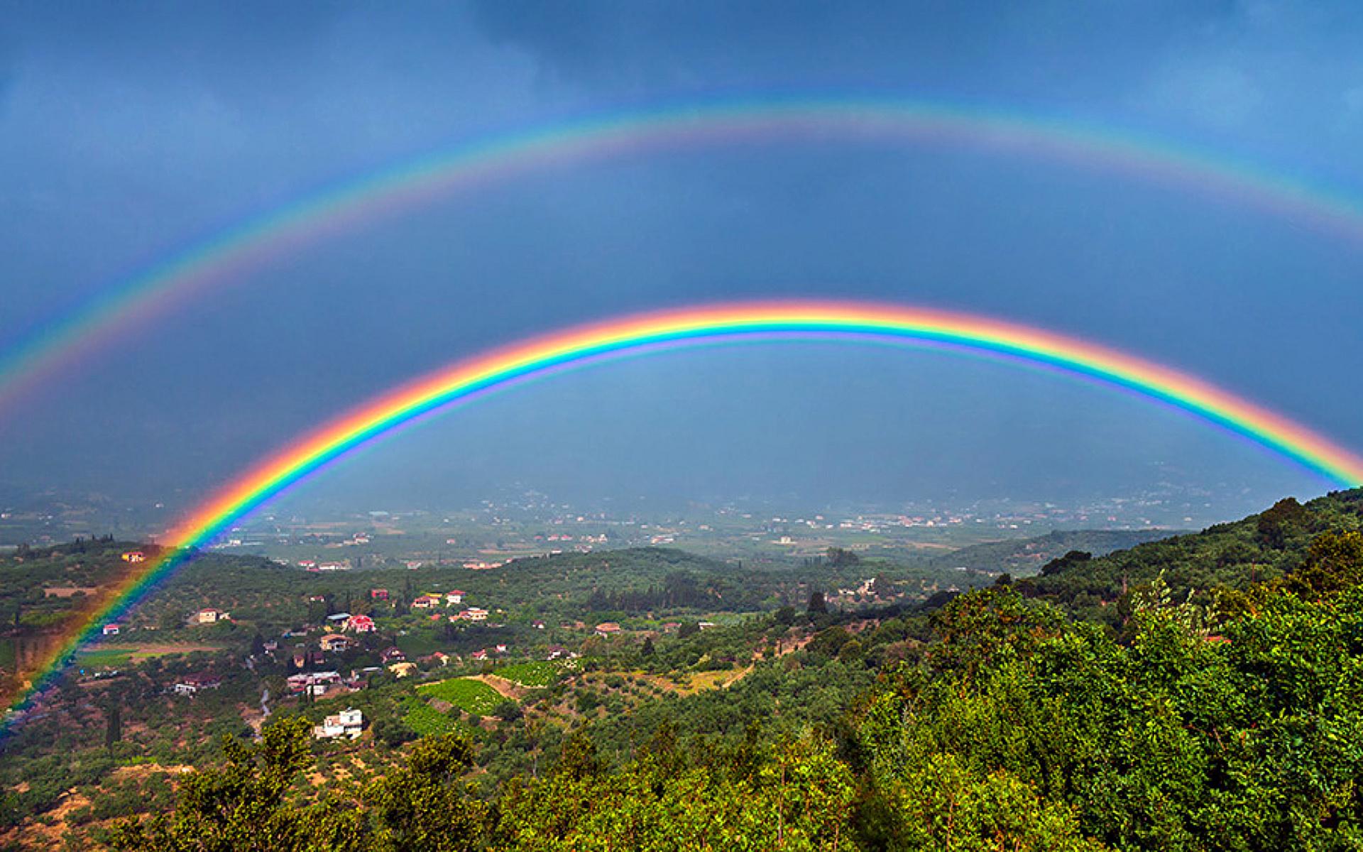 Double Rainbow Wide Desktop Background