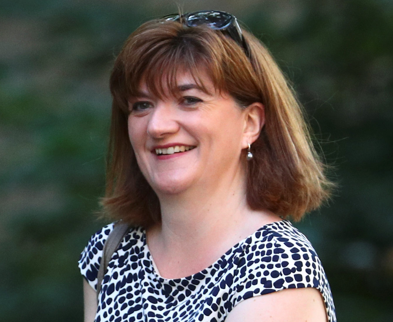 Newly appointed Secretary of State for Digital, Culture, Media and Sport, Nicky Morgan, is seen outside Downing Street in London
