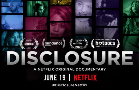 "Poster for the 2020 Netflix documentary ""Disclosure""."