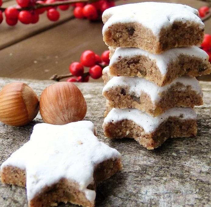 baked cinnamon stars cookies